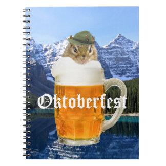 Cute Chipmunk Oktoberfest Mountains Notebook