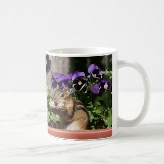 Cute Chipmunk - Peanut Pansies Funny Crossing Sign Coffee Mug