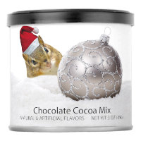Cute Chipmunk Silver and Snow Christmas Holiday Hot Chocolate Drink Mix