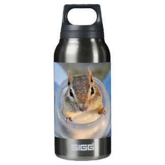Cute Chipmunk Sitting in a Food Container Insulated Water Bottle