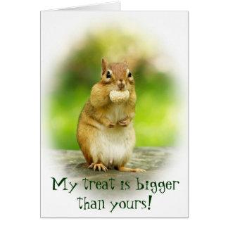 Cute Chipmunk with Treat Card