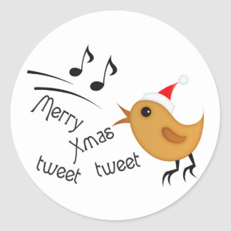 Cute Chirstmas Birdie Sticker
