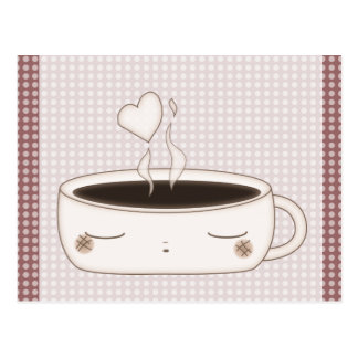 cute choco cup postcard