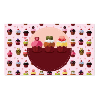 cute chocolate and ice cream business card templat