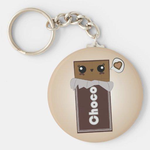 Cute Chocolate Bar Key Chain