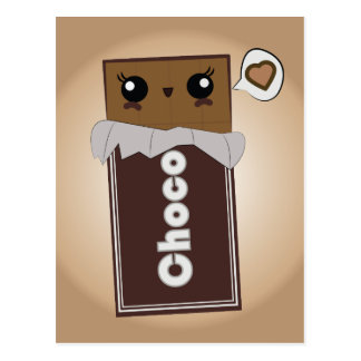 Cute Chocolate Bar Postcard