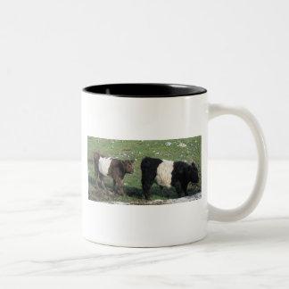 Cute Chocolate & Black Belted Calves Coffee Mugs