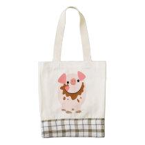 Cute Chocolate Cartoon Pig Heart Bag