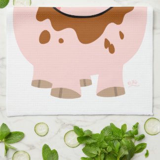 Cute Chocolate Cartoon Pig Kitchen Towel