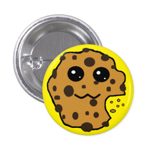 Cute Chocolate chip cookie yellow Buttons