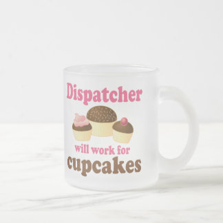 Cute Chocolate Cupcakes Dispatcher Frosted Glass Coffee Mug