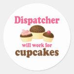 Cute Chocolate Cupcakes Dispatcher Classic Round Sticker