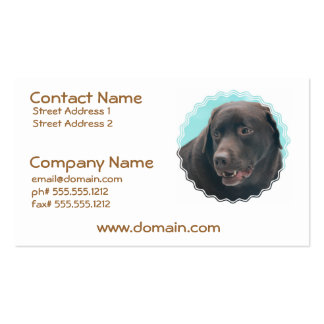 Cute Chocolate Lab Business Cards