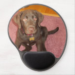 Cute Chocolate Lab Gel Mouse Pads