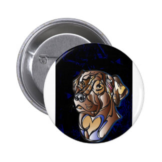 Cute Chocolate Lab Items Button