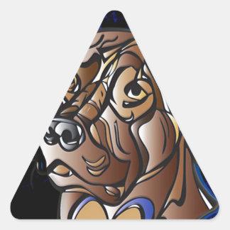 Cute Chocolate Lab Items Triangle Sticker