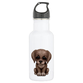 Cute Chocolate Labrador Retriever Puppy Dog Stainless Steel Water Bottle