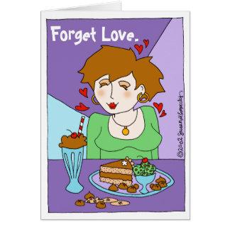 Cute Chocolate Lover Chocoholic Single Girl Card