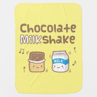 Cute Chocolate Milkshake Doodle For Babies Stroller Blanket