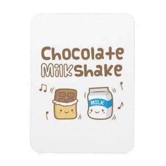 Cute Chocolate Milkshake Doodle For Her Rectangular Photo Magnet