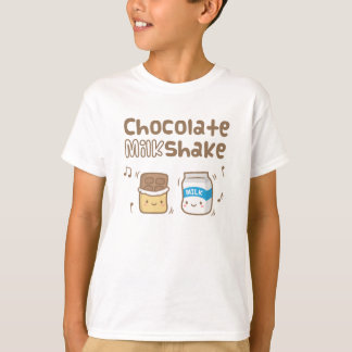 Cute Chocolate Milkshake Doodle For Kids T-Shirt