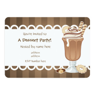 Cute chocolate millkshake all occasion party card