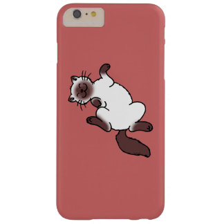 Cute chocolate point Siamese cat Barely There iPhone 6 Plus Case