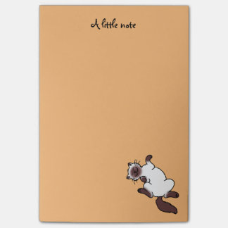 Cute chocolate point Siamese cat Post-it® Notes