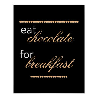cute chocolate quote typography kitchen wall art