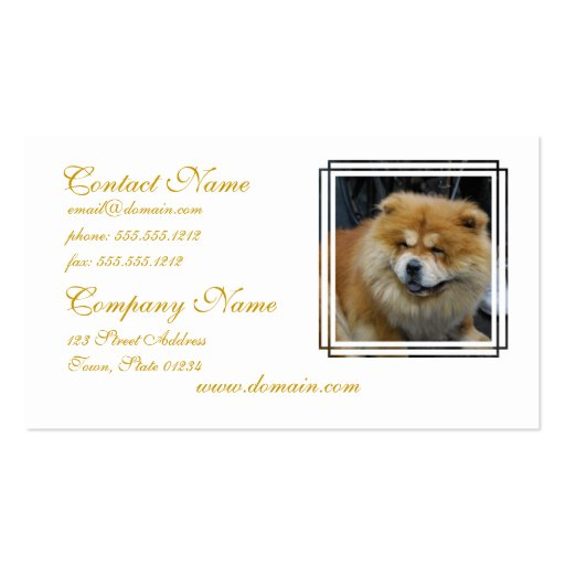 Cute Chow Chow Business Cards