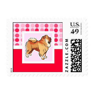 Cute Chow Chow Postage