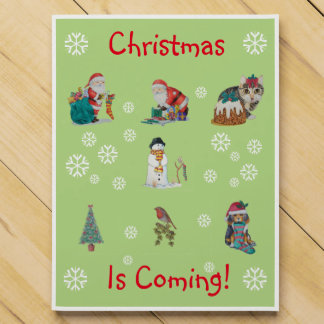 cute chrismas pictures of santa puppy and kitten countdown calendars