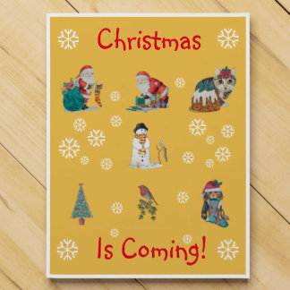 cute chrismas pictures of santa puppy and kitten chocolate countdown calendar