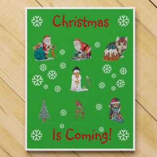cute chrismas pictures of santa puppy and kitten chocolate countdown calendars