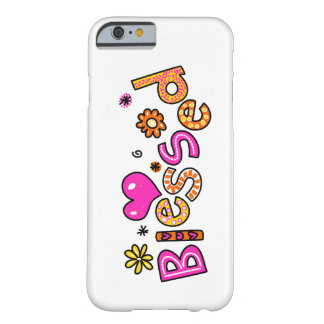 Cute Christian Blessed Greeting Text Expression Barely There iPhone 6 Case