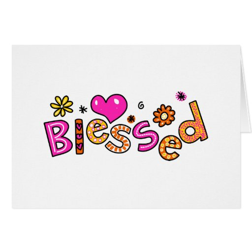 Cute Christian Blessed Greeting Text Expression Greeting Card