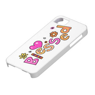 Cute Christian Blessed Greeting Text Expression iPhone SE/5/5s Case