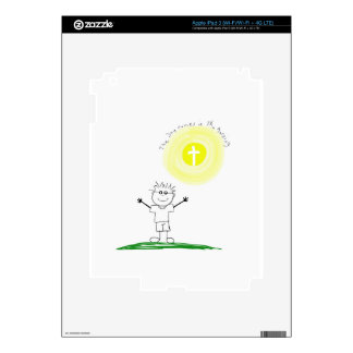 Cute Christian character with scripture iPad 3 Decal