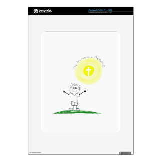 Cute Christian character with scripture iPad Decals