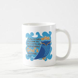 Cute Christian Owl Classic White Coffee Mug