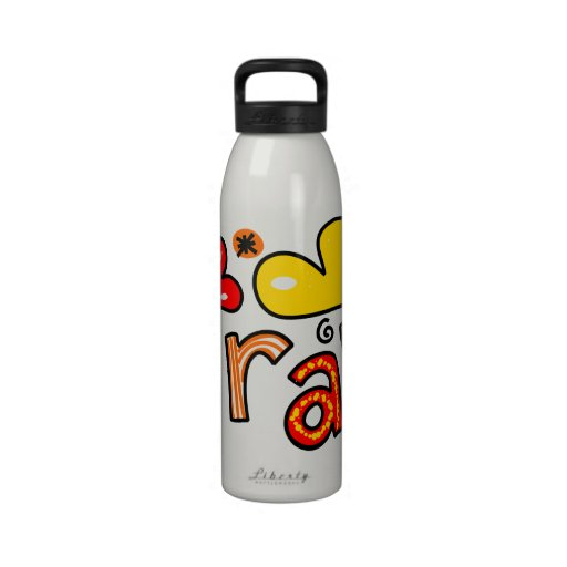 Cute Christian Pray Greeting Text Expression Water Bottle
