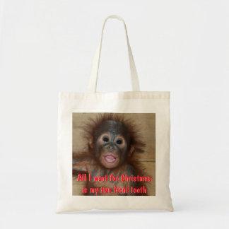 Cute Christmas 2 Front Teeth Tote Bag