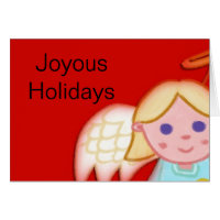 Cute Christmas Angel Card