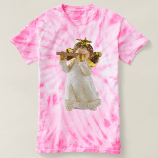 Cute Christmas Angel Playing a Flute Tee Shirt