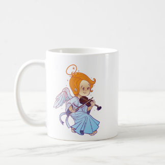 Cute Christmas  baby angel playing violin Coffee Mug