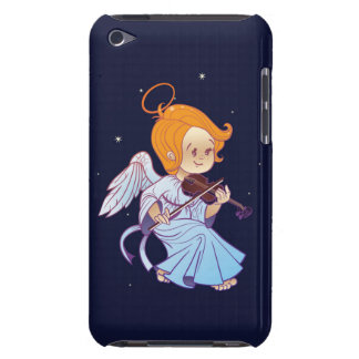 Cute Christmas  baby angel playing violin iPod Case-Mate Case