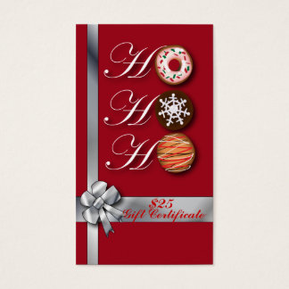 Cute Christmas Bakery Gift Certificate template