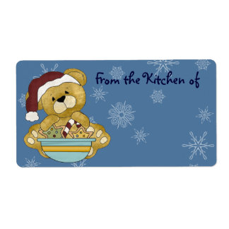 Cute Christmas Baking Cookies Kitchen Labels