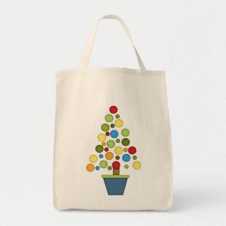 Cute Christmas Ball Tree Tote Bag