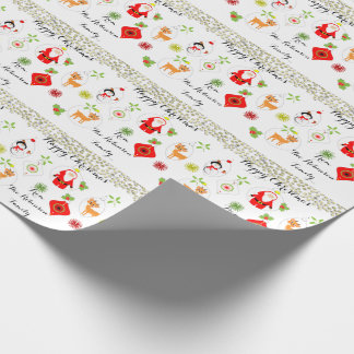 Cute Christmas Bauble Decorations Wrapping Paper